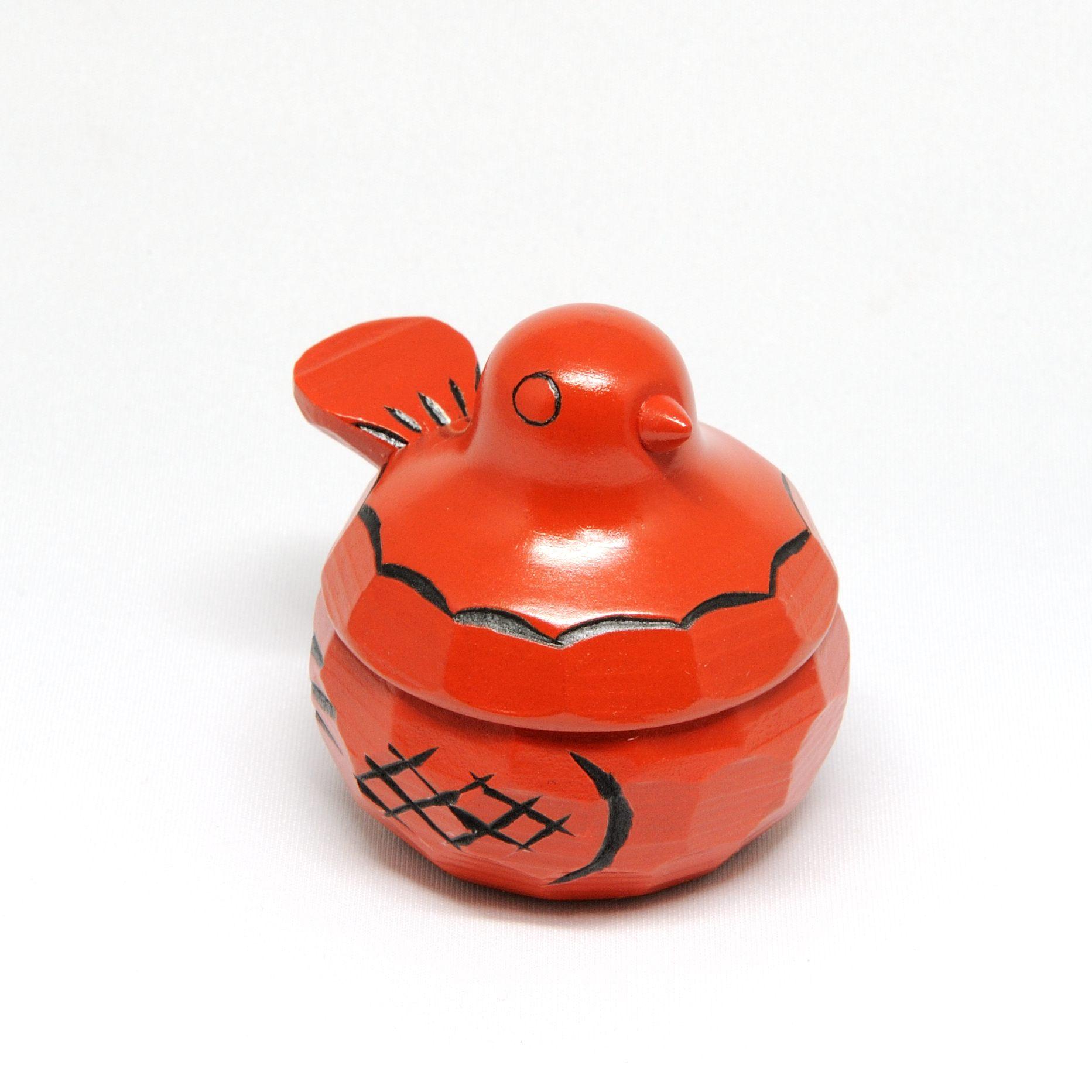 鳩のリングケース(赤)