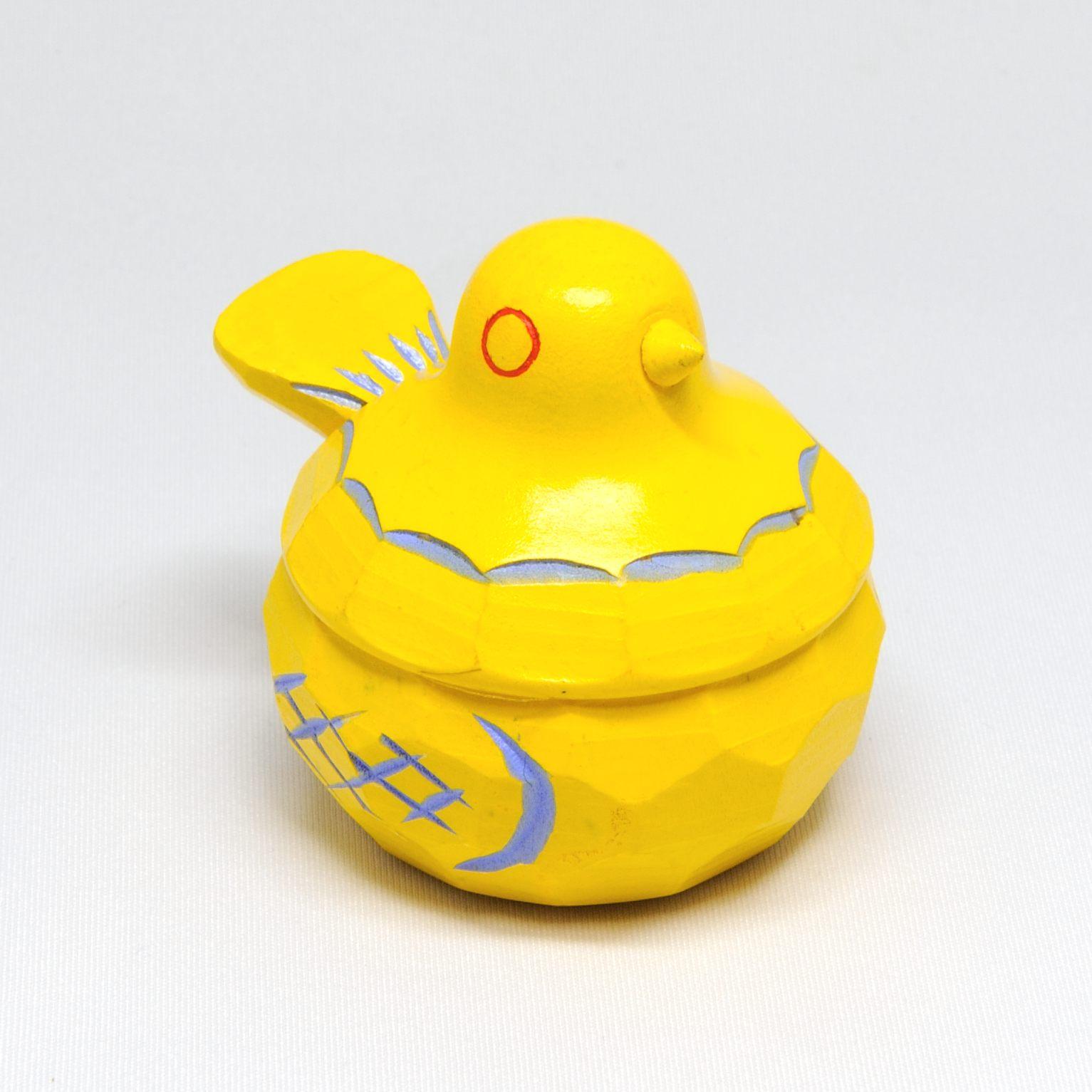 鳩のリングケース(黄)
