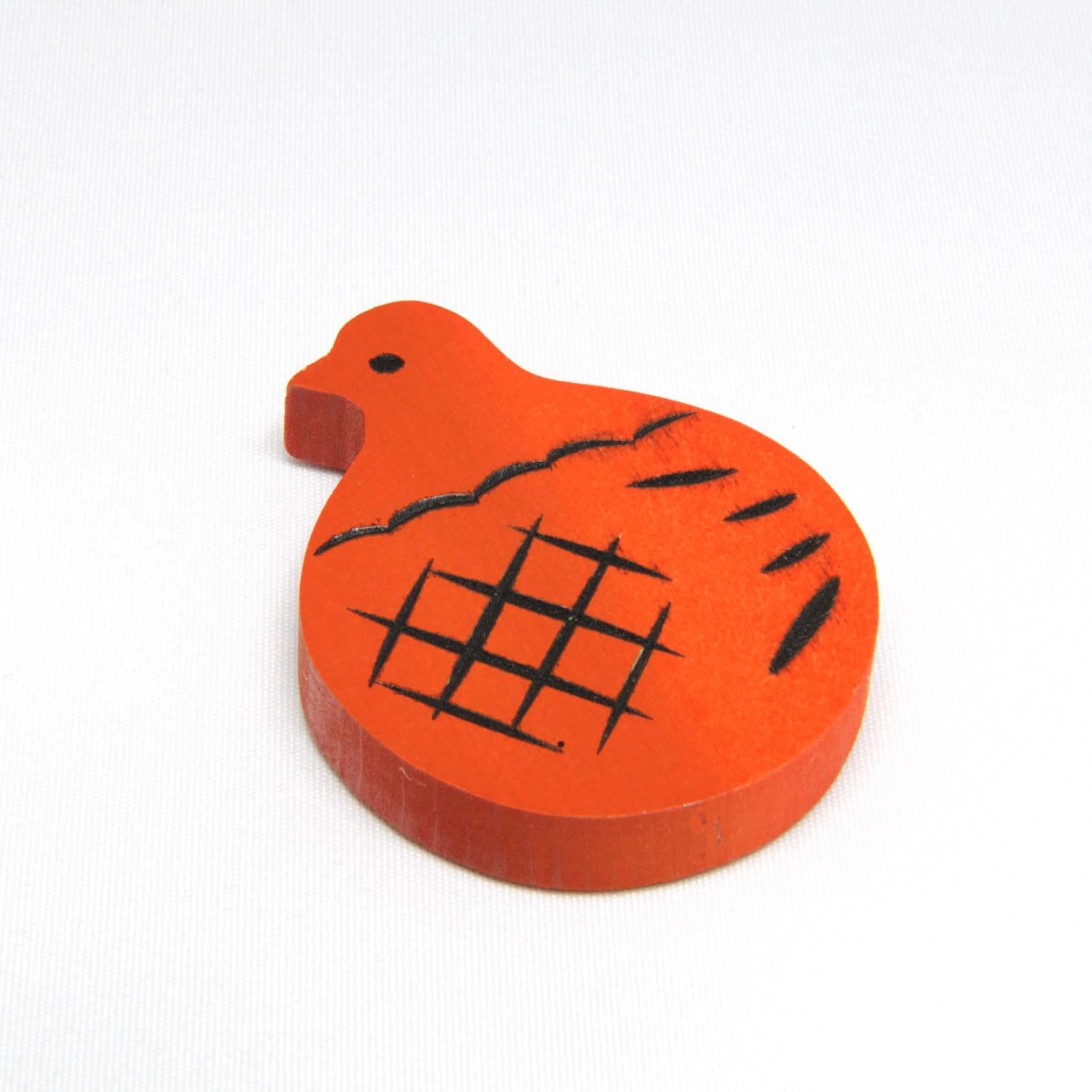 鳩のマグネット(赤)