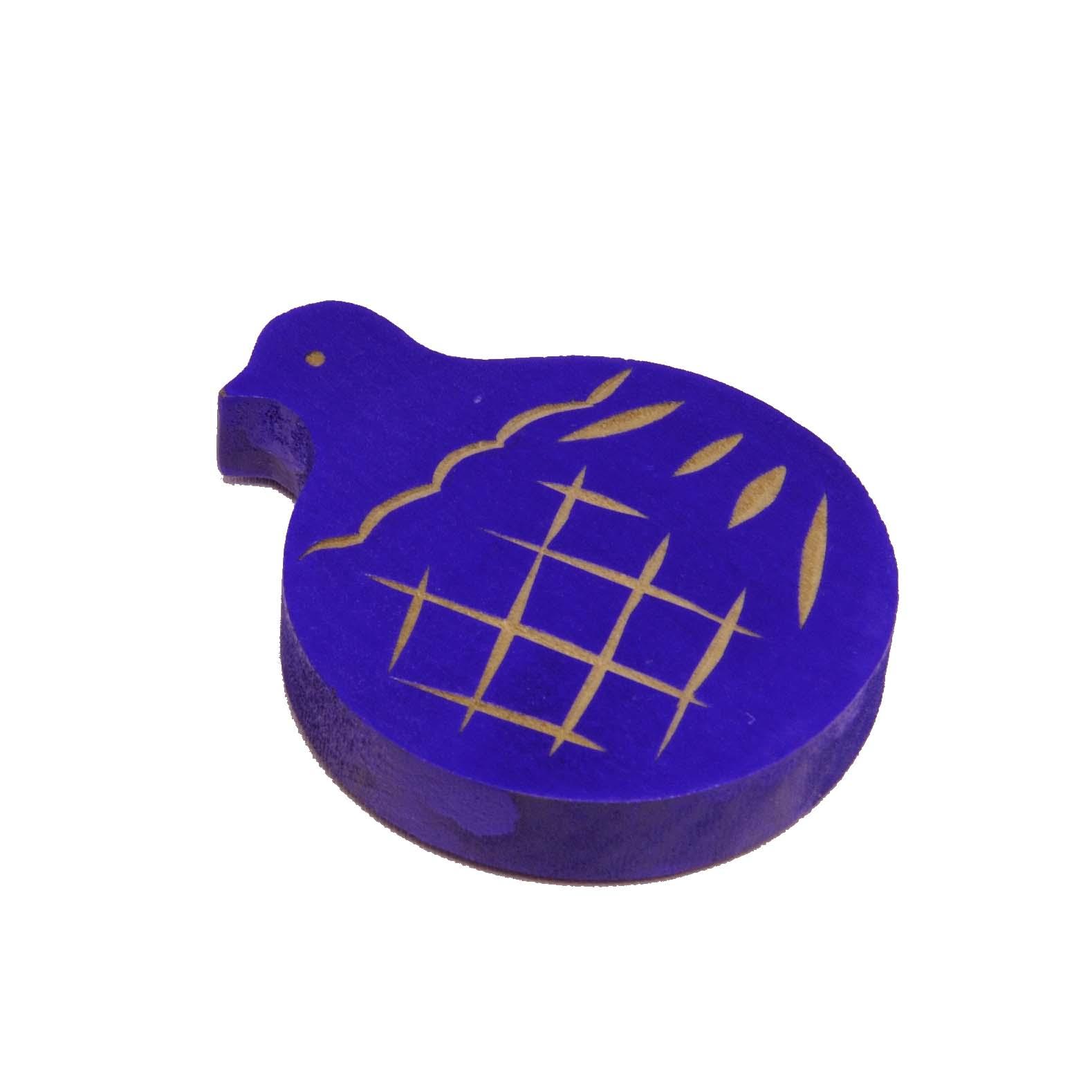 鳩のマグネット(青)