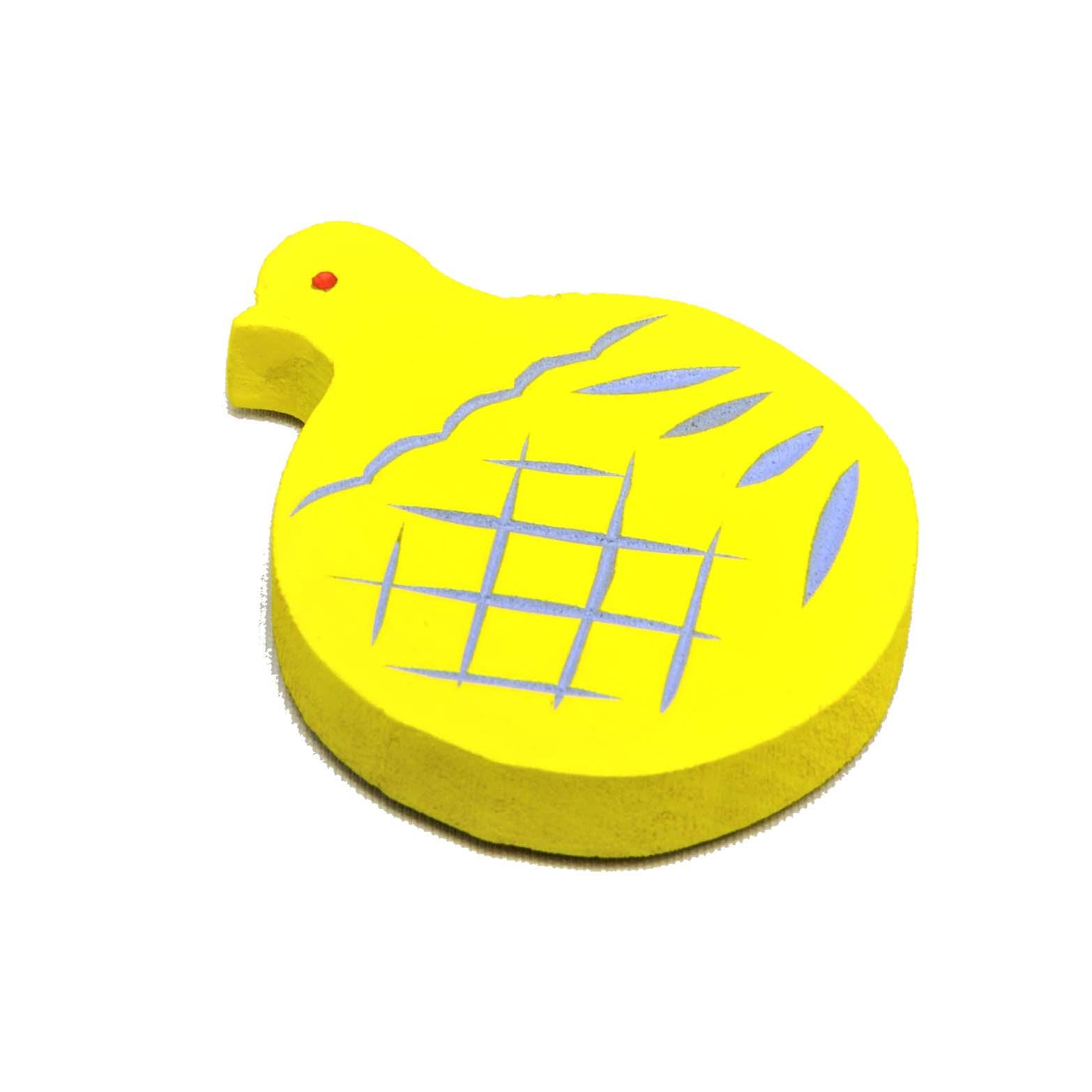 鳩のマグネット(黄)