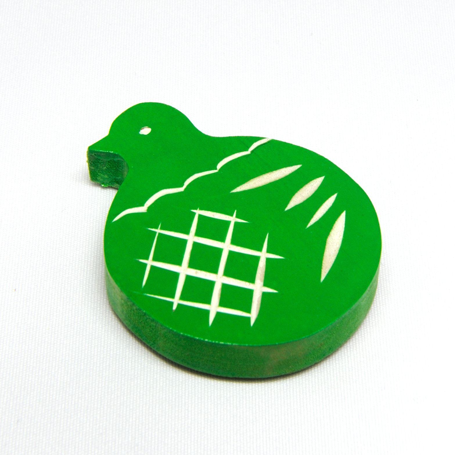 鳩のマグネット(緑)