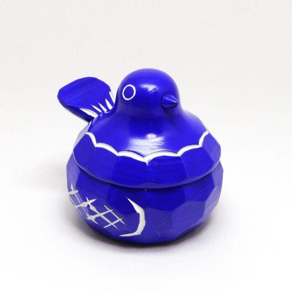 鳩のリングケース(青)