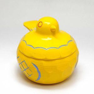 鳩のボンボン入れ(黄)