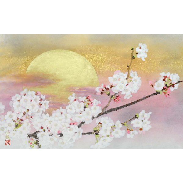 桜日本画作品