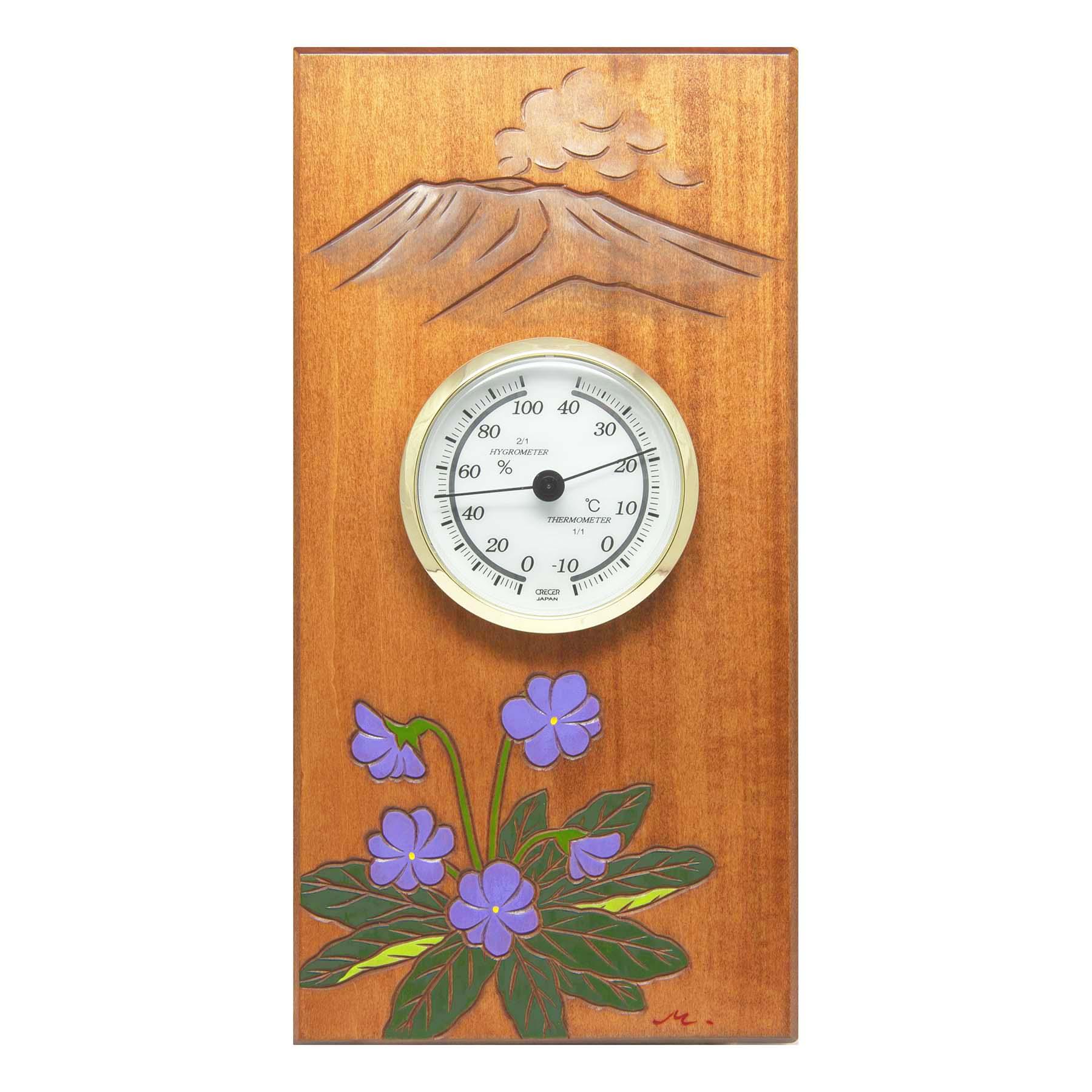 コモロスミレ温湿度計