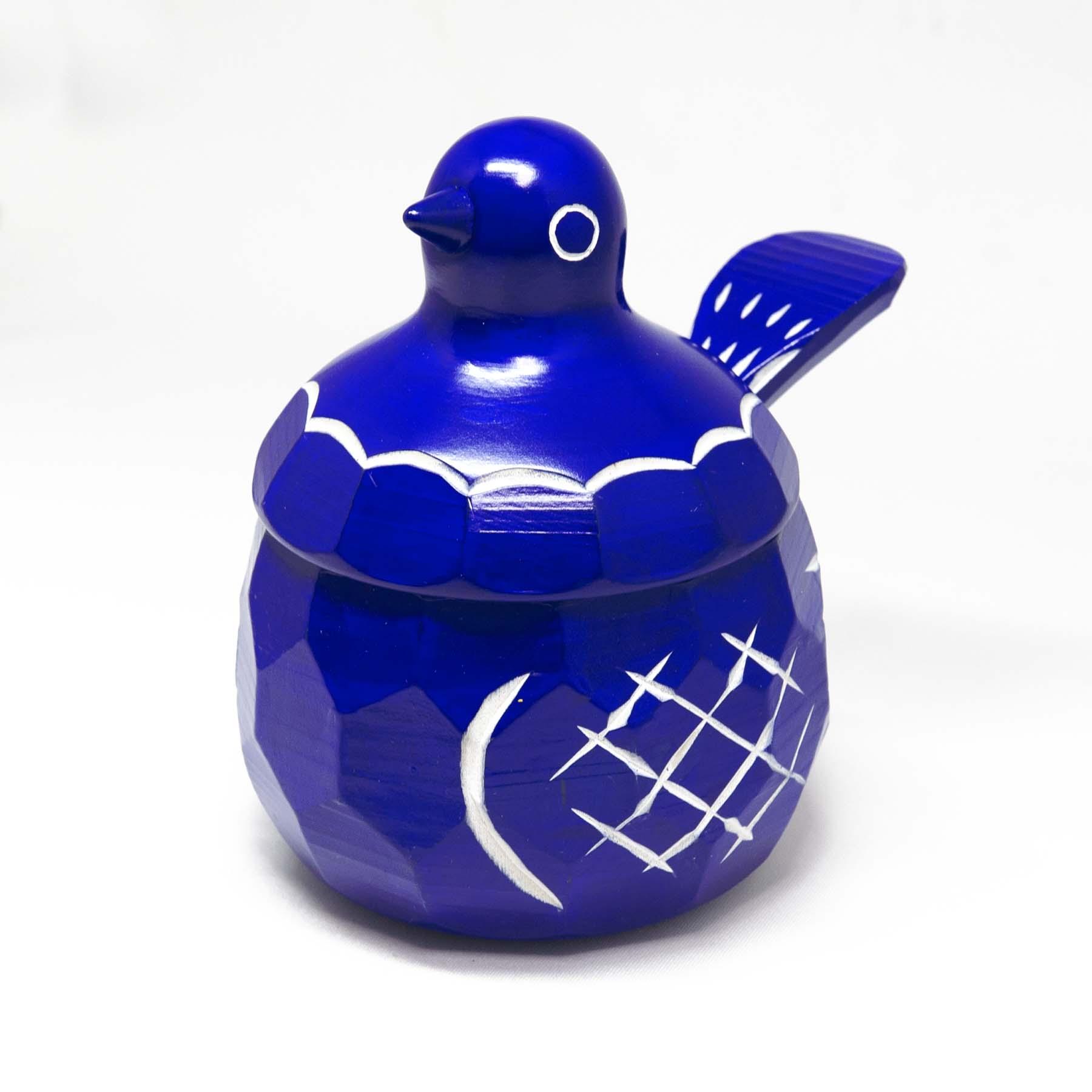 鳩の砂糖壺(青)