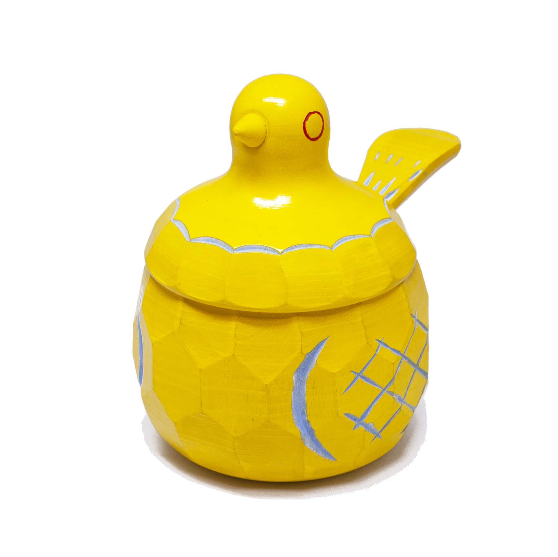 鳩の砂糖壺(黄)